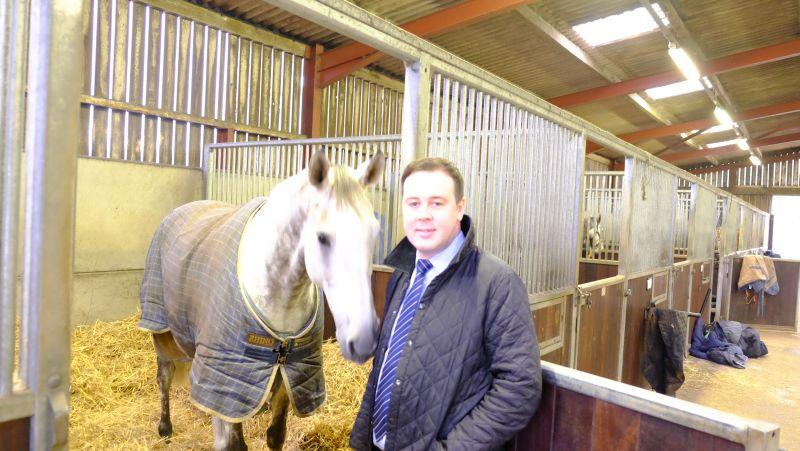 Lee Oliver with his horse Knockanrawley