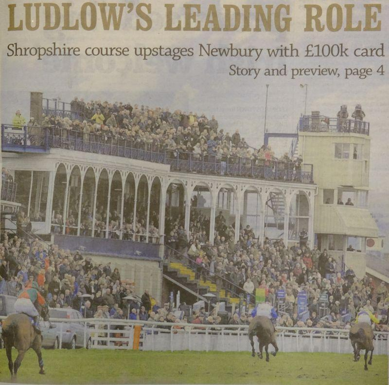 This is the front page of todays Racing Post.. I do hope Newbury is embarrassed..WELL DONE LUDLOW