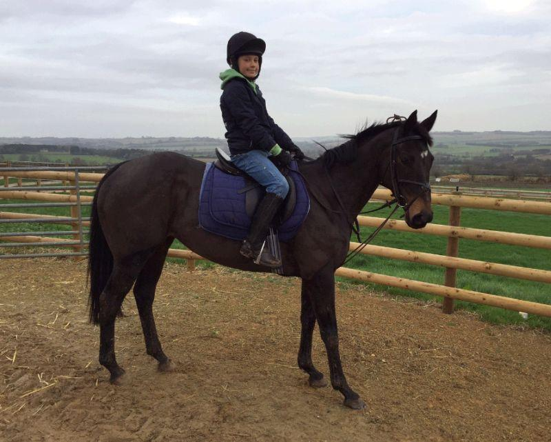 Archie on his racing pony Flo (not slow)