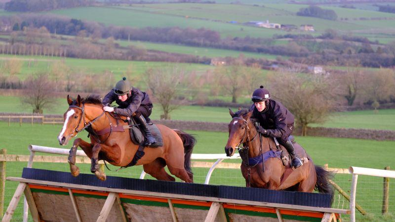 Abbreviate on the left jumping last week.. He runs in the first at Market Rsen today