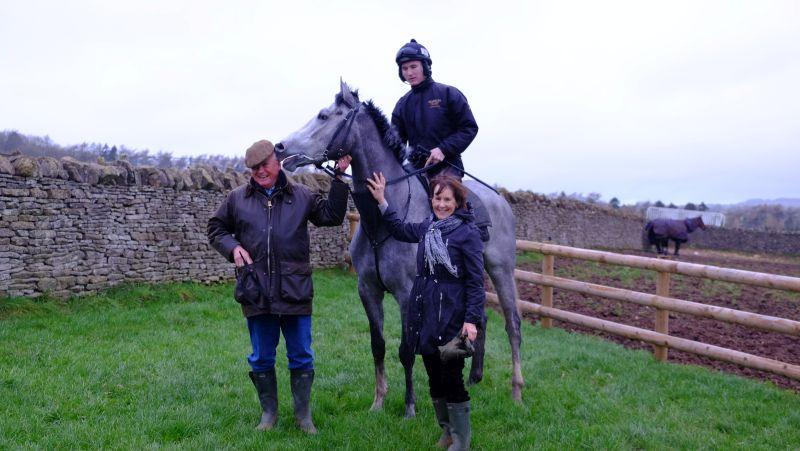 David and Fran with their horse Silver Kayf
