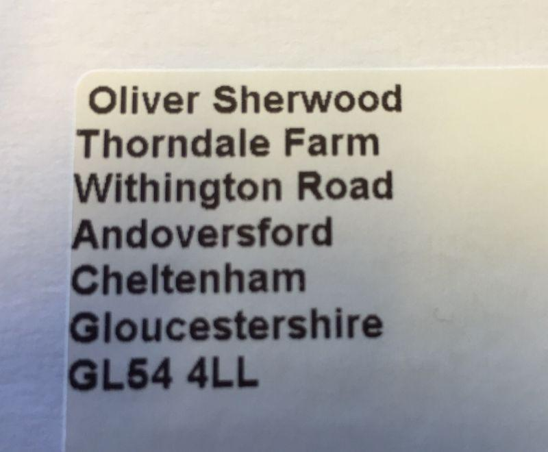 My old neighbour from my Lambourn days is on the move?  A touch too close I feel!!