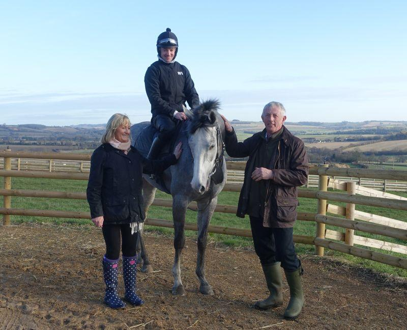 Silver Kayf with his KBRP owners Chris and Steve Adams