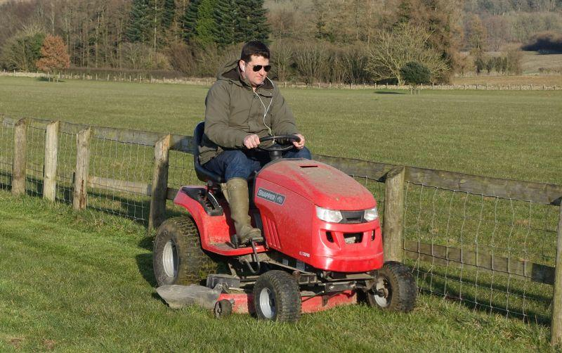 Mat doing a bit of mowing.. smartening the place up