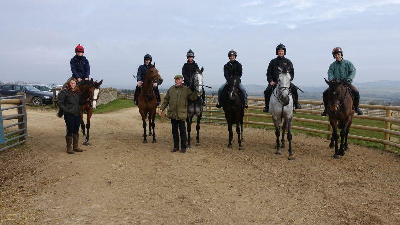 Lizzie and Norman with Normans horses Taras Rainbow,Rhianna, Sunblazer, Milord, Silver Eagle and Mor Brook