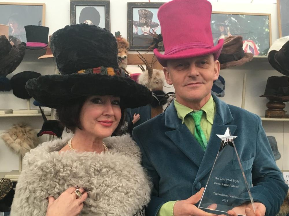 Johnny Beardsall Hats won The Cotswold Style Best Dressed Stand