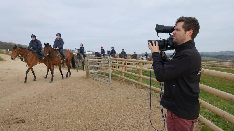 Emily Gray far side and Alfie's Choice this side being filmed by ATR