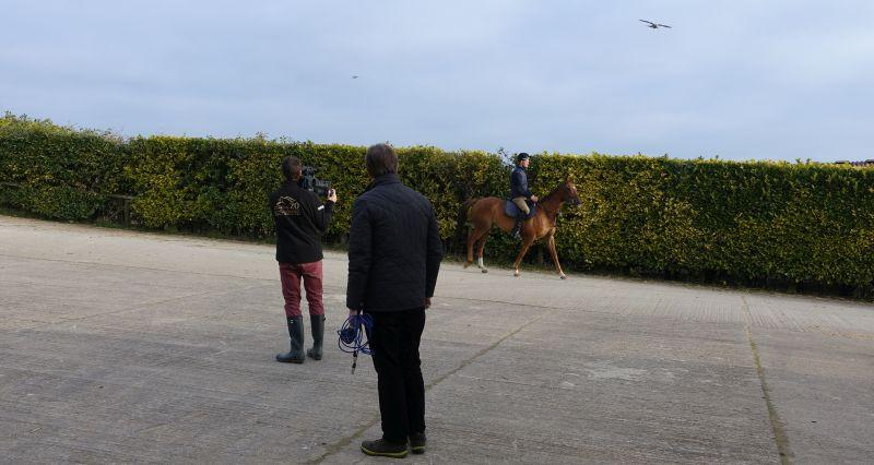 Robert Cooper and Kevin filming The Last Samuri heading out of the yard first lot