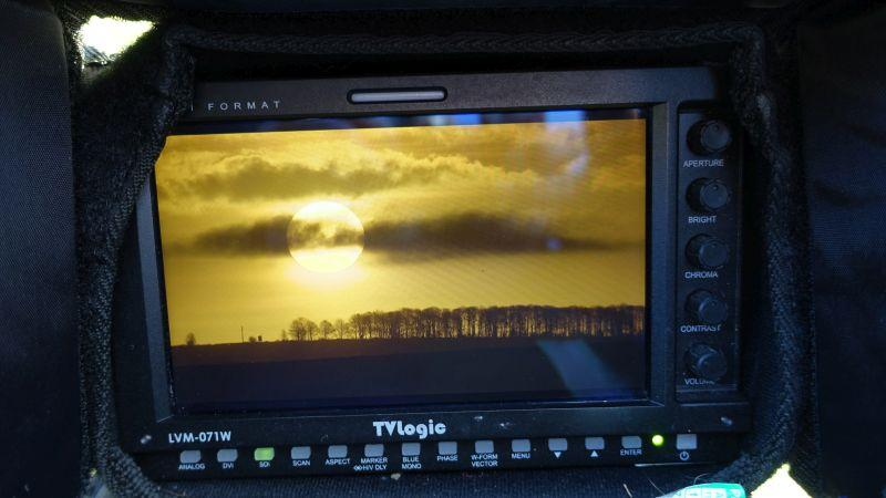 The monitor on this mornings sunrise