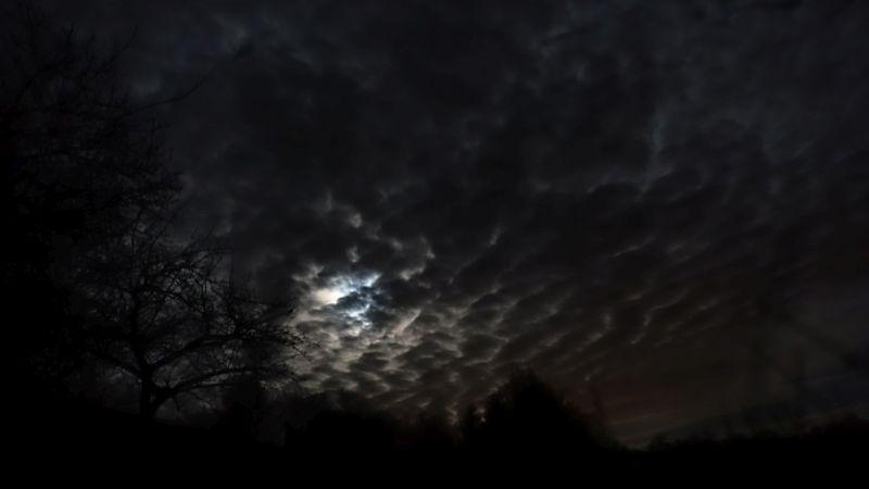 Very moody sky last night