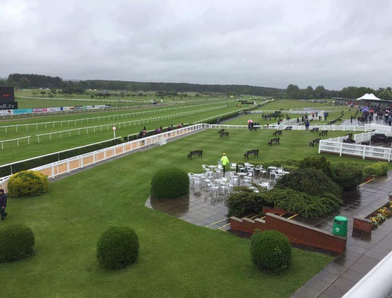 View of the racecourse from the boxes..