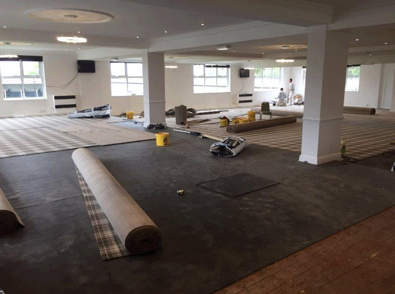 The main restaurant being refurbished at Market Rasen.. Should be ready for ther next meeting