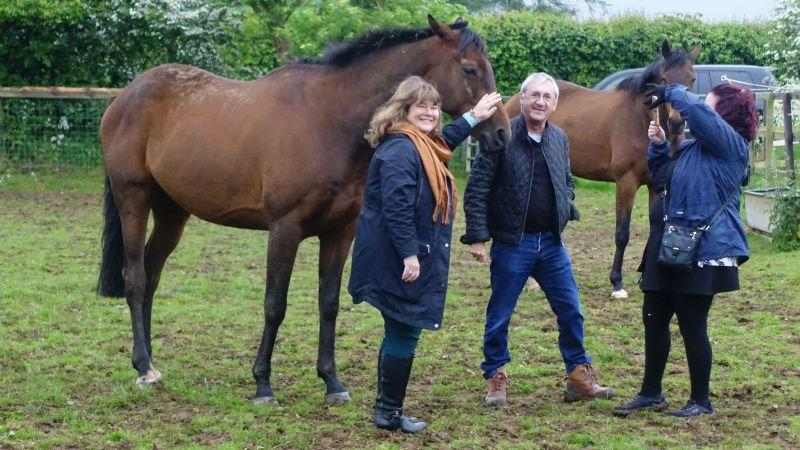Elaine and Martyn Booth with their horse Mr Brinkley