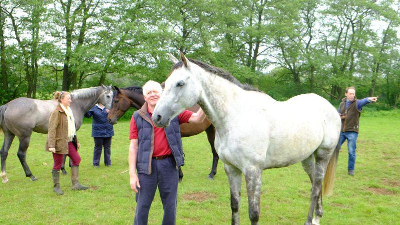 Peter Woodhall with his KBRP horse Silver Eagle