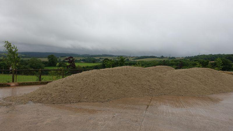 Piles of new gallop material... 25K in this picture.. expensive stuff this sand?
