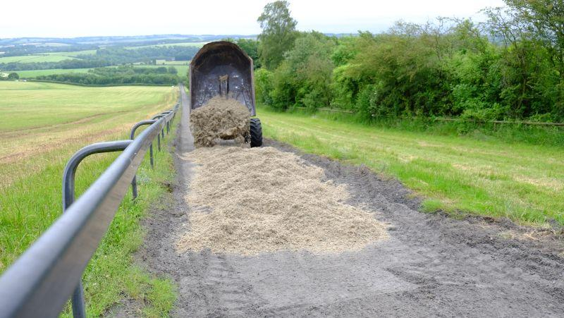 Laying the new surface on top of the gallop