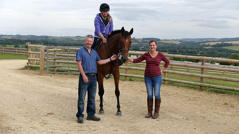 Paul and Helen with their horse Our Belle Amie
