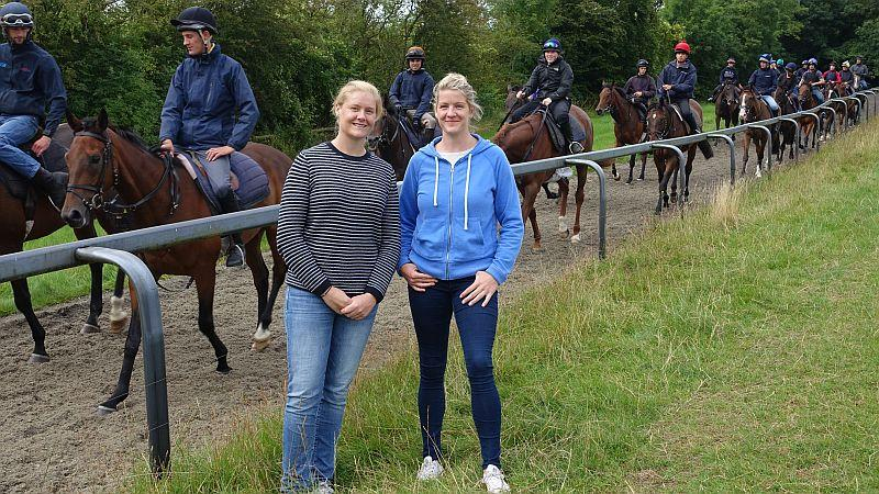 Jennifer Farmer and Ashley Rowlands who were here for a morning on the gallops.. second lot