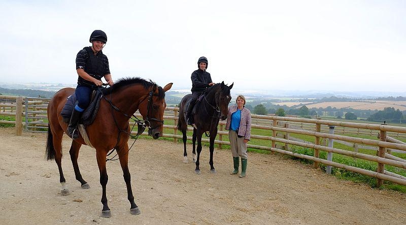 Our Belle Amie and Blazon with owner Carol Bailey