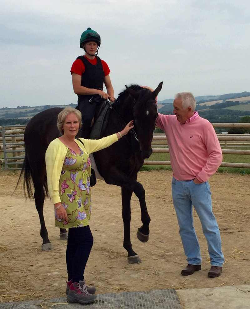 Phillipa and Paul Sharpe with their horse Chateau Robin
