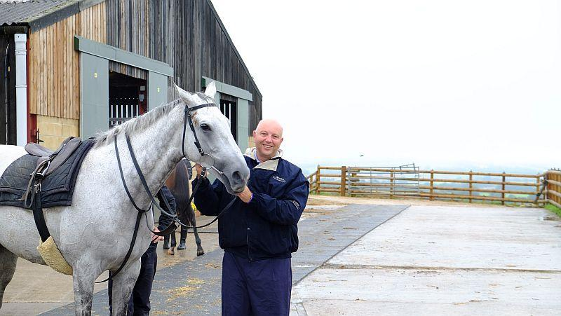 Tim Richardson with his favourite horse Knockanrawley