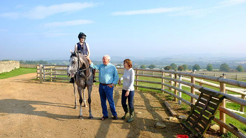 David and Frances with their horse Silver Kayf