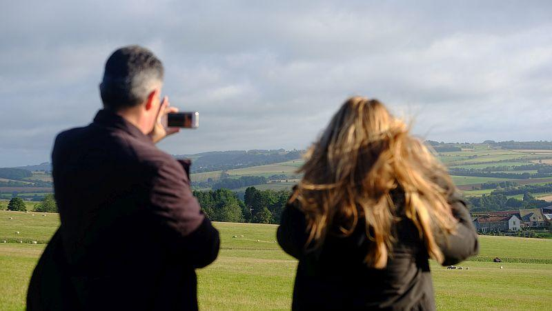Robert and Becky Floyd admiring the view from the top of the gallops.. worth the walk?