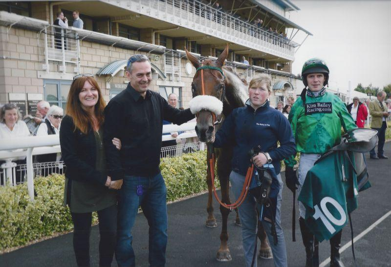 Kathy, Phil, Patsys Castle, Sinead and David in the winner's enclosure