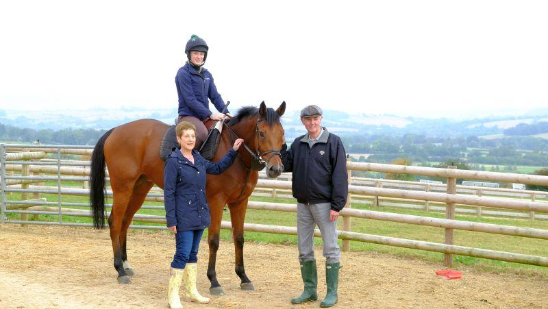 Carol and David Crompton with their KBRP horse Fifty Bob.. Share available