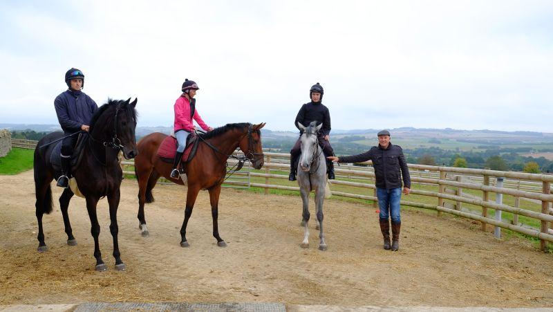 John Benson with his KBRP horses Chateau Robin, Our Bella Amie and Silver Kayf