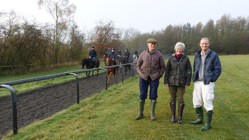 Robert, Jules and Thomas on the gallops..