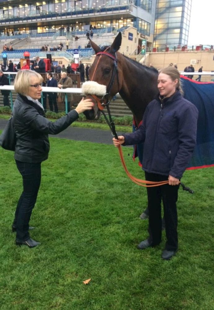 Ali Sulin with her horse Aliandy in the second place enclosure