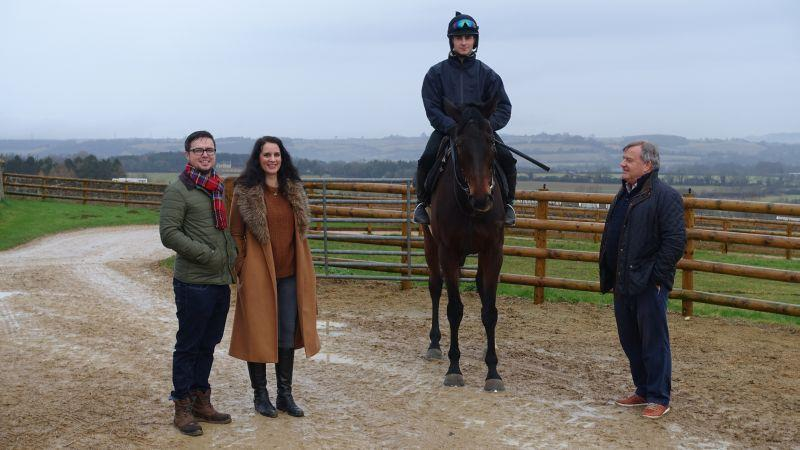 Christopher and Leannah with Harry Topper and his owner David Keyte