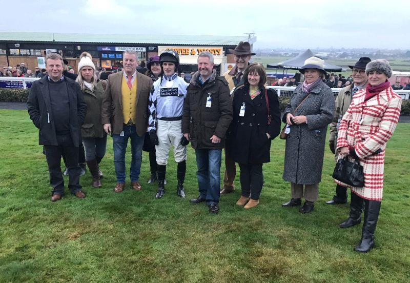 Some of The Chasing Hopefuls who own the bumper runner Our Belle Amie