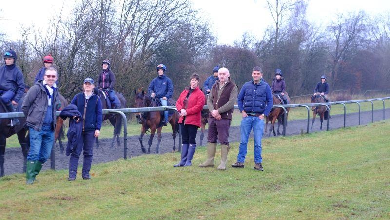 Philip, Jo, Susan, Roger and Chris with the horses after third lot