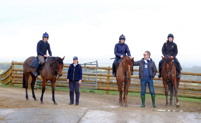 The Shirocco Filly with Jo Brown and Another Venture and Biscuit with Philip Smedley; Philip has shares in all three.