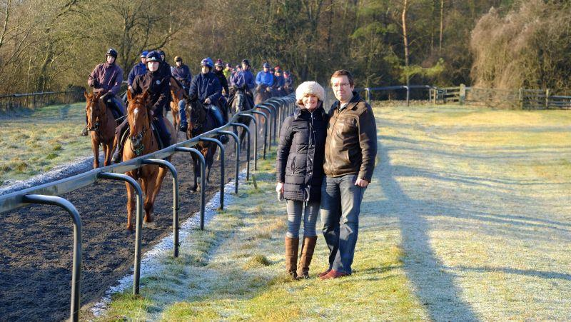 Heather Johnson and Anthony King.. They were here for a morning on the gallops