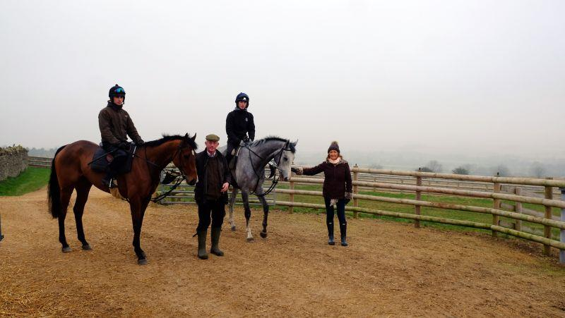 Steve and Chris with their two KBRP horses Desaray and Silver Kayf