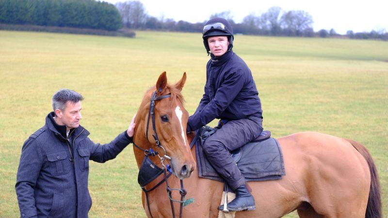 Michael Kaye with his horse Glenforde