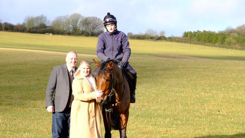 Simon and Trudy with their horse Monrocco