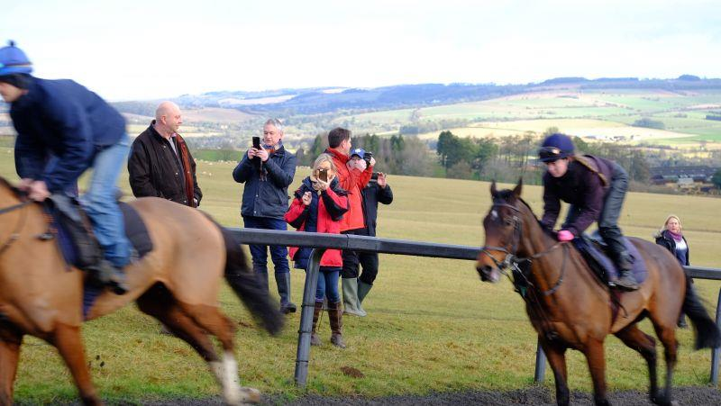 Videoing the horses working past