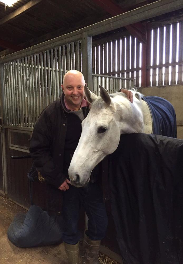 Tim Richardson with his horse Knockanrawley