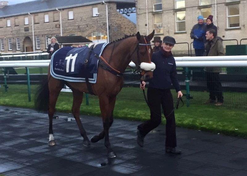 Our Belle Amie at Doncaster.. she won best turned out